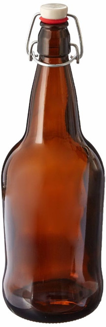 EZ Cap Kombucha Bottle - Amber - 32 oz