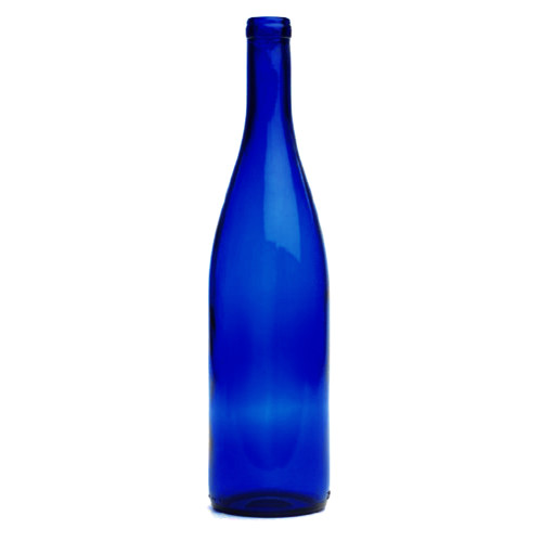 Cobalt Blue Hock Wine Bottles - 750 mL - Case of 12