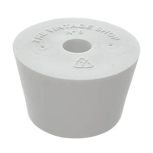 Size 13 Drilled Rubber Stopper