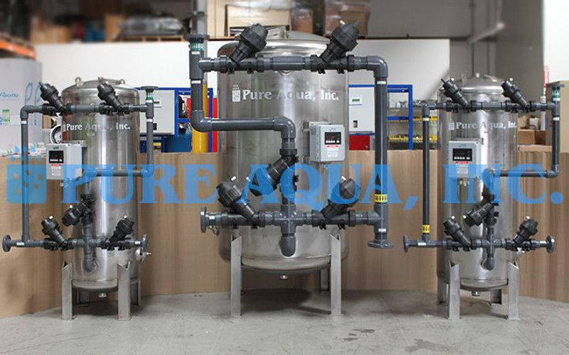 Stainless Steel Multi Media Filters 97 GPM - Hong Kong