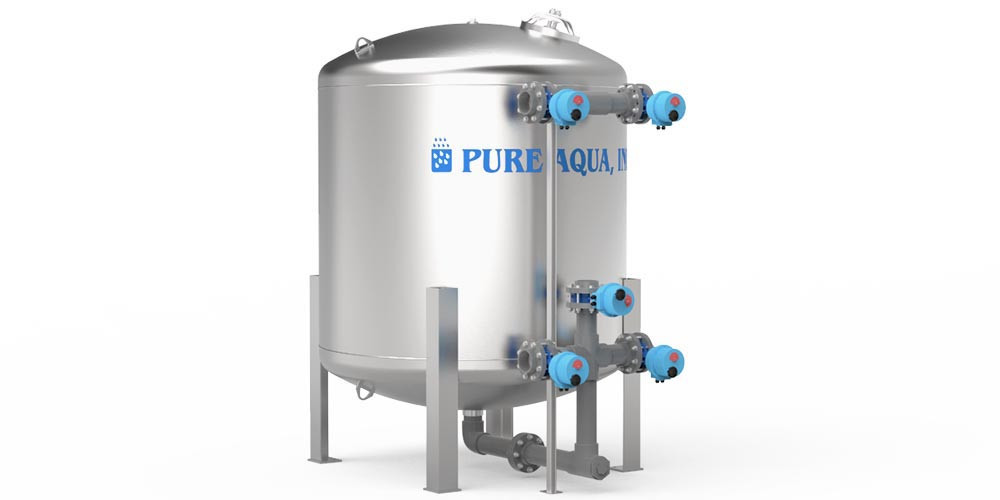 Industrial Stainless Tank Water Media Filter MF-1100 - image1