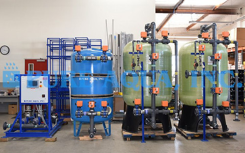 Dual Bed Deionized Water System 140 GPM for Boiler Water Treatment – Papua New Guinea