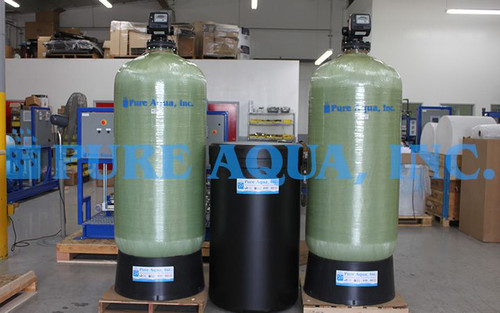 Commercial Twin Water Softener 120,960 GPD - Ecuador