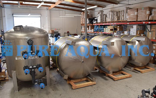Stainless Steel Multi Media Filters with Auto Backwash 2 x 330 GPM - Abu Dhabi
