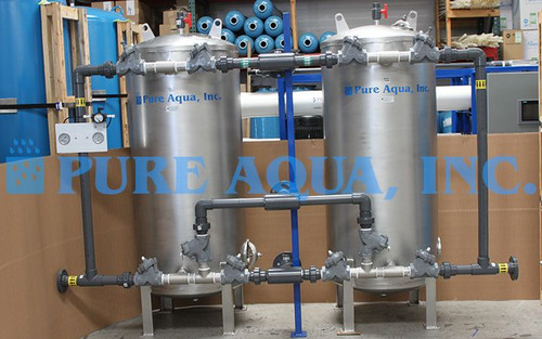 Duplex Stainless Steel Media Filter for Potable Water 98 GPM - Kuwait