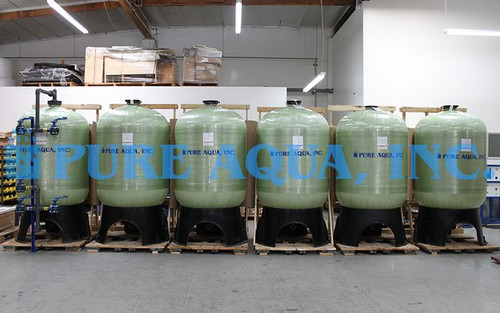 Activated Carbon Filtration Equipment 6 x 63 GPM - Saudi Arabia