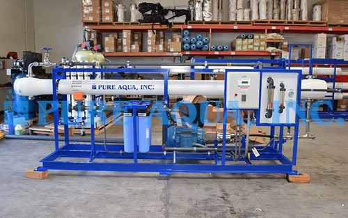 Commercial Seawater Reverse Osmosis Assembly 16,000 GPD - Thailand