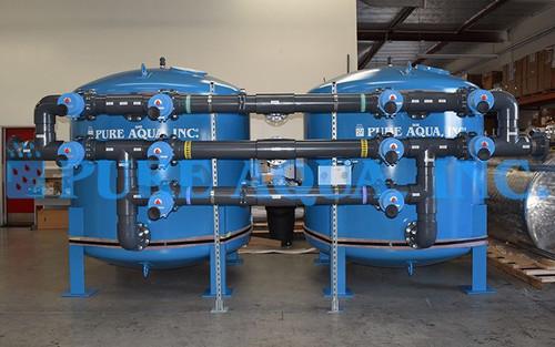 Twin Alternating Industrial Multi Media Filters 2 x 385 GPM - USA