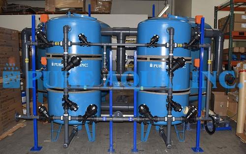 Twin Alternating Water Softener 140,000 GPD - Guam