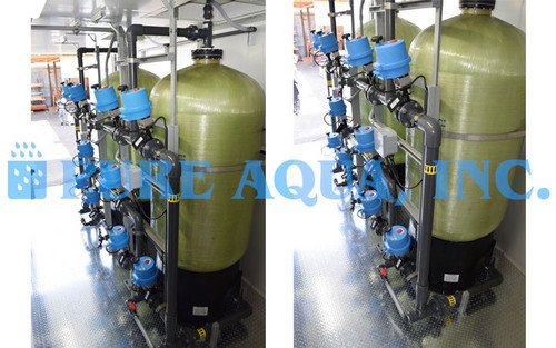 Containerized Twin Alternating Greensand Filters w/ NSF Components for Iron Reduction - 60 GPM - USA