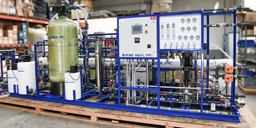 reverse osmosis plant with electrodeionization front view