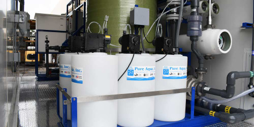 Containerized Double Pass SWRO for Alkaline Water 7 GPM - Bahamas