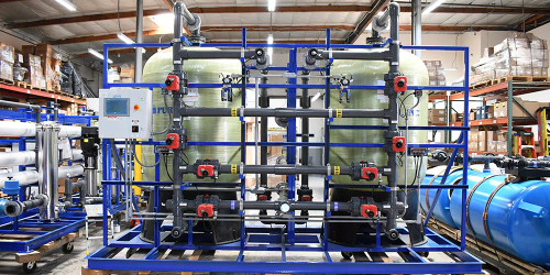 Duplex Skid Mounted Greensand Filter 100 GPM - California