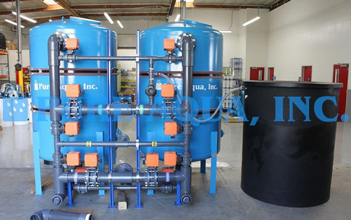 Twin Alternating Water Softener 223200 GPD - Saudi Arabia