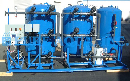 Skid Mounted Media Filtration System Peru