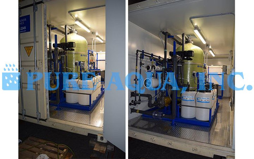 Containerized Double Pass Seawater Reverse Osmosis Plant Bahamas