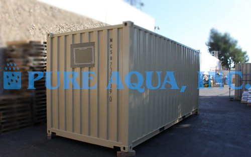 Containerized Double Pass Seawater Reverse Osmosis Unit Chile