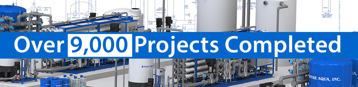 9000 reverse osmosis water treatment systems completed by pure aqua inc