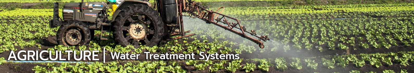 Agriculture water treatment systems