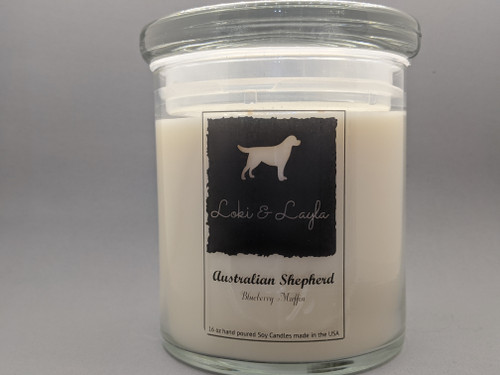 Australian Shepherd - Blueberry Muffin 16oz candle
