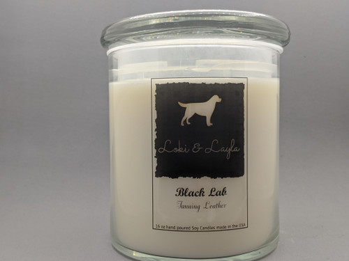 Black Lab - Leather  16oz candle