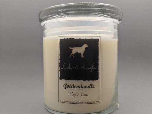 Goldendoodle - Maple Butter 16oz candle