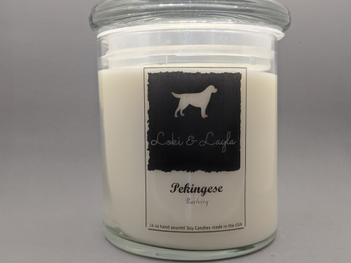 Pekingese - Pearberry  16oz candle