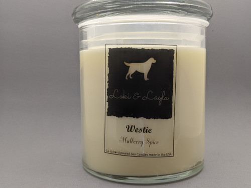 Westie - Mulberry Spice 16oz candle