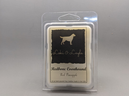 Redbone Coonhound - Red Pineapple scented 2.7oz MELTS