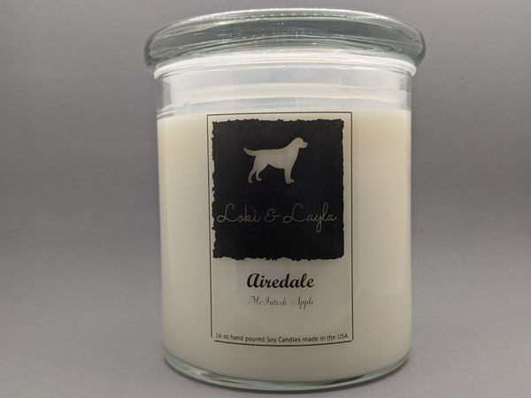 Airedale - Macintosh Apple 16oz candle