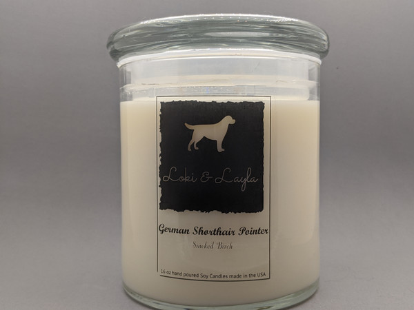 German Shorthair Pointer - Smoked Birch 16oz candle