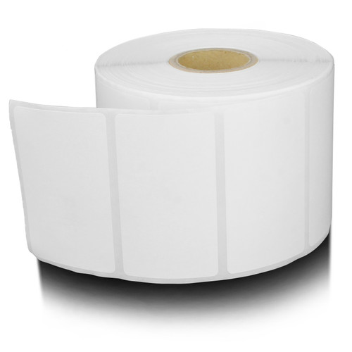 """12 Rolls Thermal Labels 1.2"""" X .85"""" - 1500 roll for Zebra Tag Printer"""
