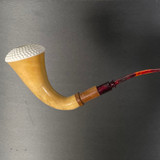Real African Gourd Calabash with Solid Block Meerschaum Bowl by Paykoc M03733
