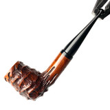 Straight Shank Volcano Valhalla Heavy Sand Carved Eric Nording Briar Tobacco Pipe by Paykoc 1 Count