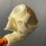 Art Deco Eagle Claw  with Bone Finish by Master Carver Baglan Meerschaum Pipe Paykoc