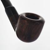BMT1008 Montini Briar Pipe Dark Brown 1/4 Bent Dublin