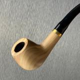 "Olive Wood Tobacco Pipe Slight Bent Apple 6"" Paykoc 1 Count"