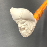 Pirate High on Plunder and Ale Meerschaum Churchwarden Pipe Paykoc M09028