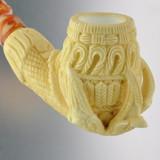 Meerschaum Medet Signature Claw W/Basket Weave Pipe By Paykoc M74005