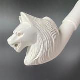 Wolves Belong Here Werewolf Meerschaum Churchwarden Tobacco Pipe by Paykoc M09045