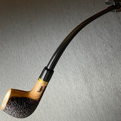 Rustic Apple Olive Wood Tobacco Pipe Featuring Meerschaum Bowl Interior 1 Count Assorted Rustication