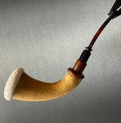 Real African Gourd Calabash with Solid Block Meerschaum Bowl by Paykoc M03730