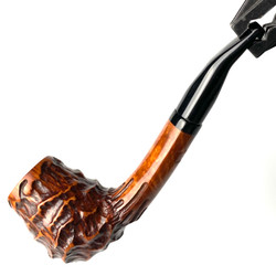 Oval Shank Acorn Valhalla Heavy Sand Carved  Eric Nording Briar Tobacco Pipe by Paykoc 1 Count