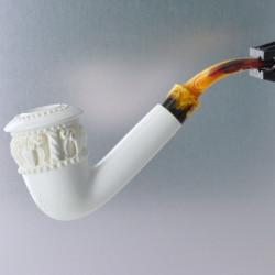 Meerschaum Topkapi Calabash Tobacco Pipe by Paykoc M06016