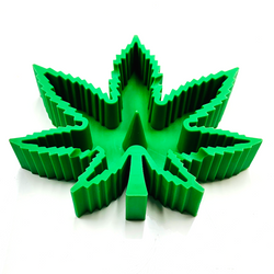 Silicone Marijuana Leaf Ashtray Unbowler Assorted Color 1 Count
