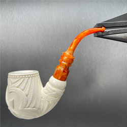 A Time Tested Freemason Crest Meerschaum pipe, M74015