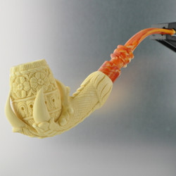 Meerschaum Medet Signature Claw Grasping Floral Pipe By Paykoc M74003
