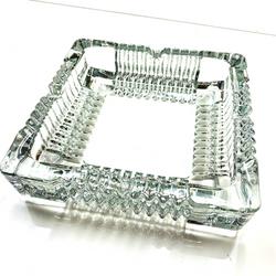 """Square Glass Ashtray 7x7"""""""