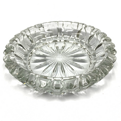 "Round Style Glass Ashtray 5.75"""