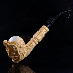 Mesut Master Carver Winged Pegasus Meerschaum Tobacco Pipe M08103
